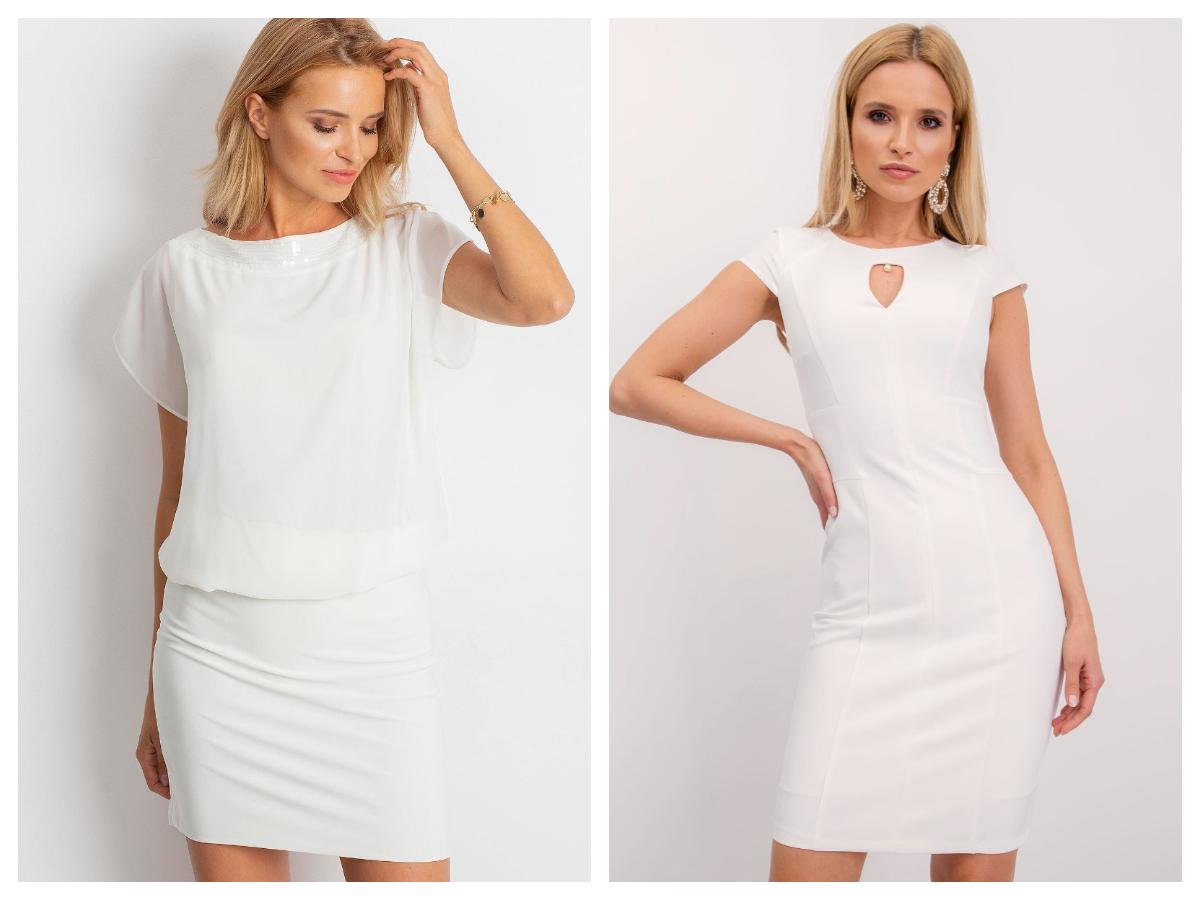 Biała mini sukienka plus size na lato