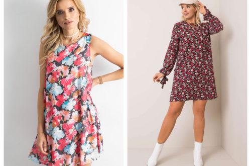 Stylizacje plus size w kwiaty sukienki na ramiączkach